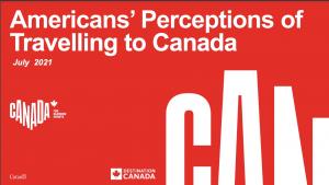 Destination Canada Americans Travelling to Canada data