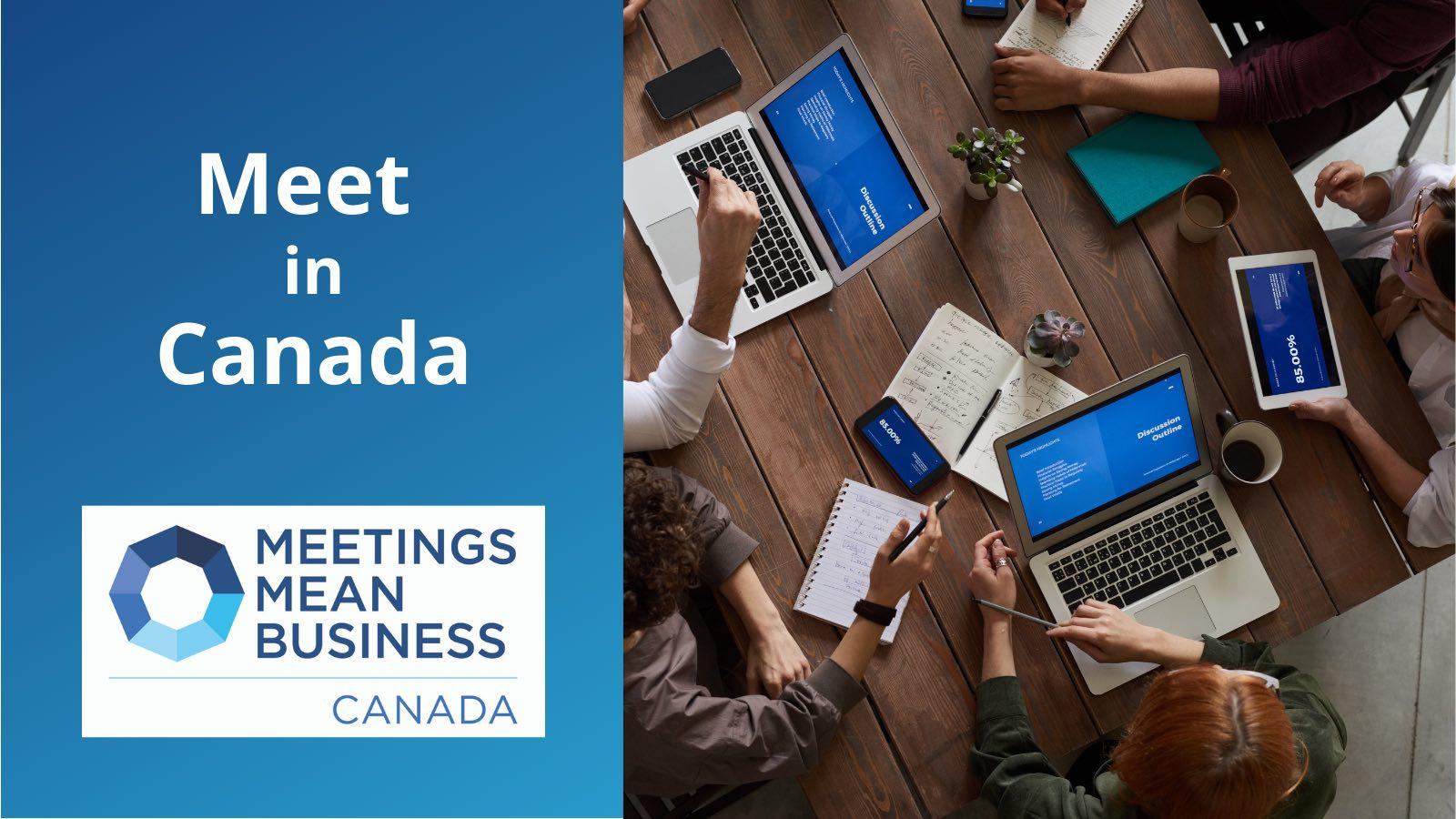 Meet in Canada boardroom table